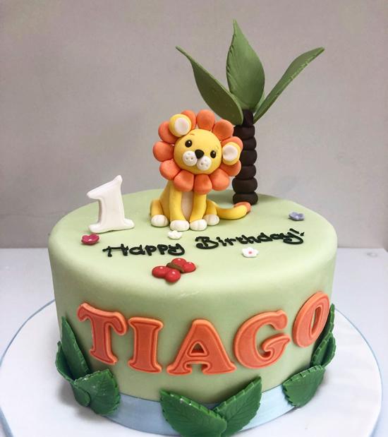 Lindo bolo do Rei Leão