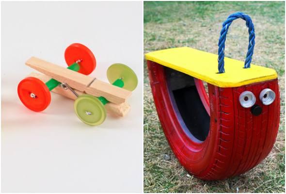 Brinquedo de material reciclado