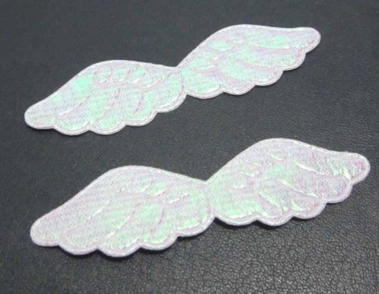Asas de anjo com tecido