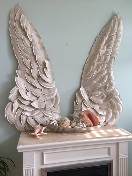 Asa de anjo para decoração