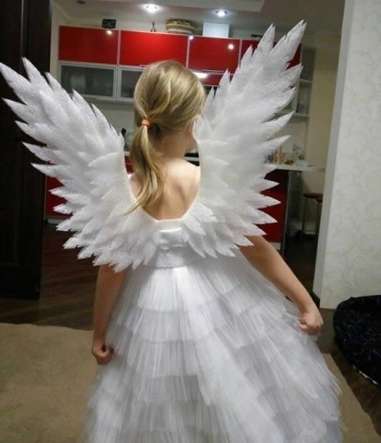 Asas de anjo para fantasia