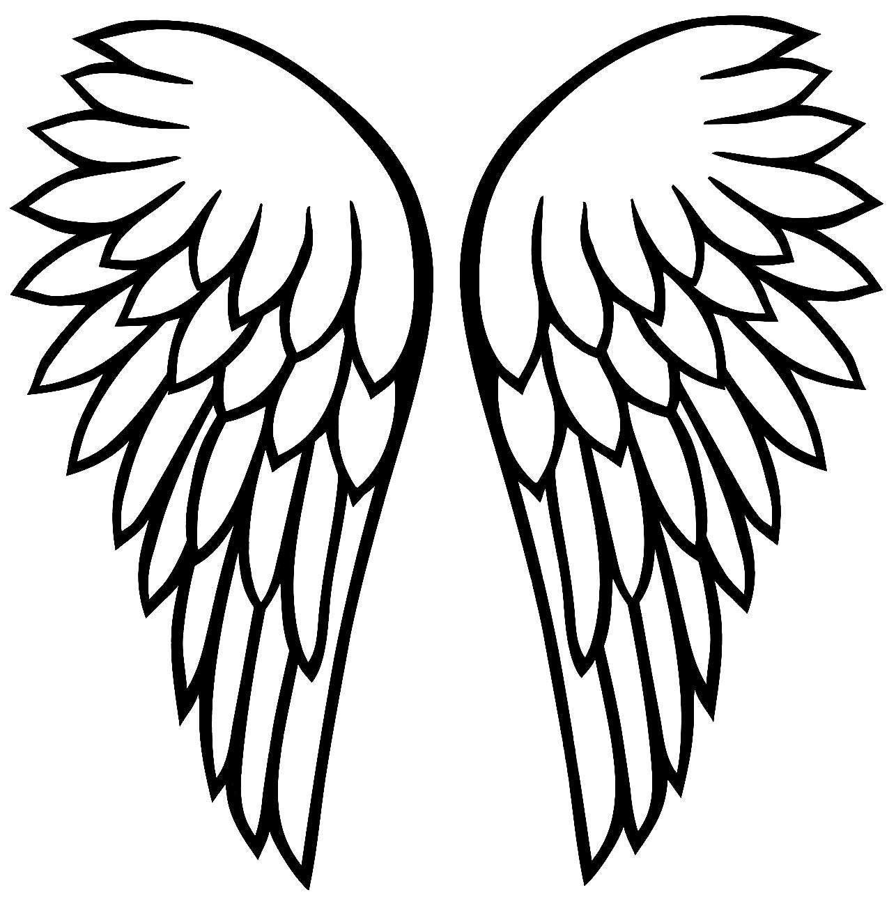 Moldes de asas de anjo