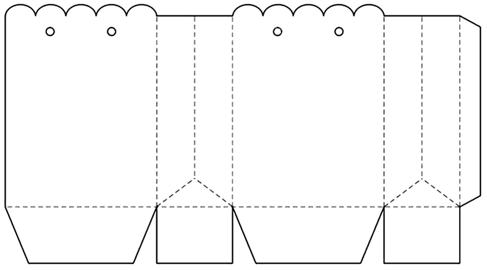 Molde de sacola de papel