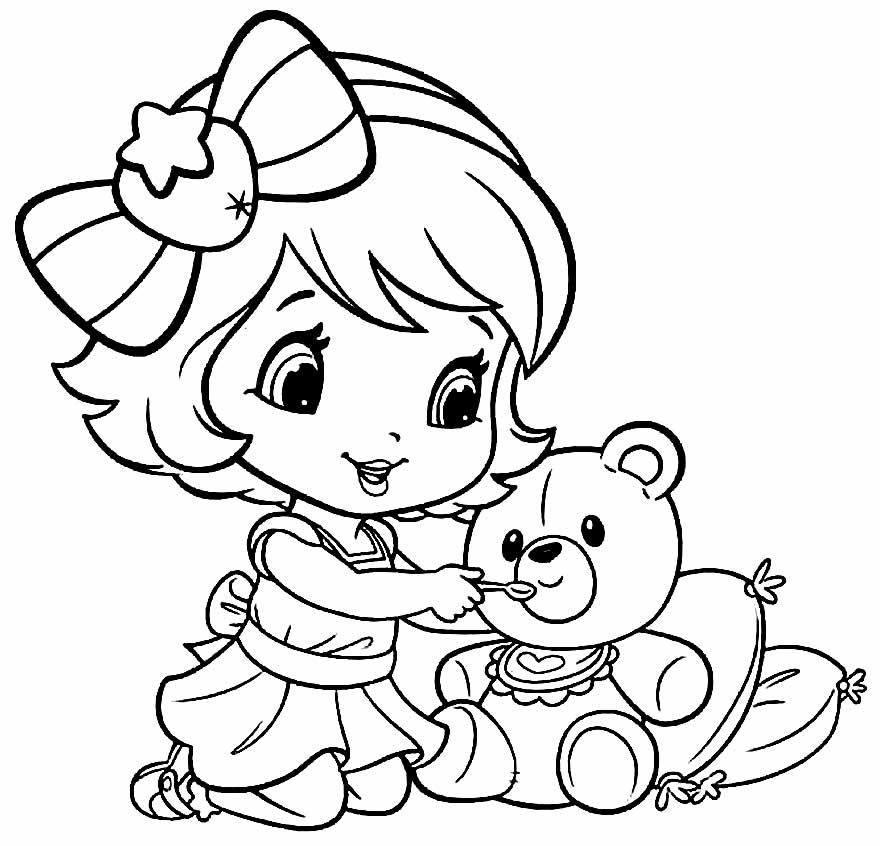 Desenho da Moranguinho bebê para colorir