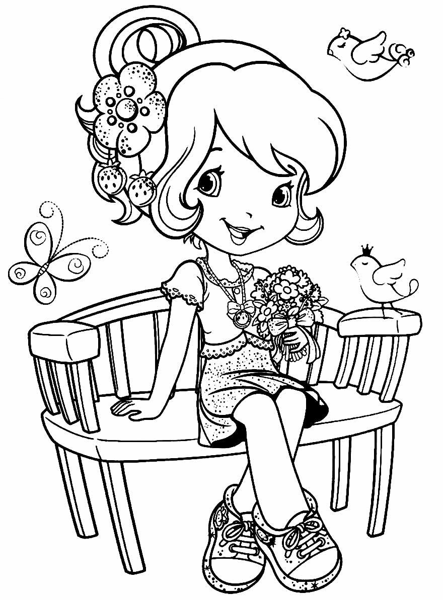 Imagem da Moranguinho para colorir