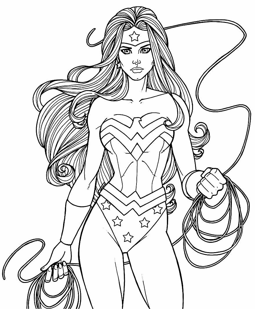 Desenho para colorir da Mulher-Maravilha