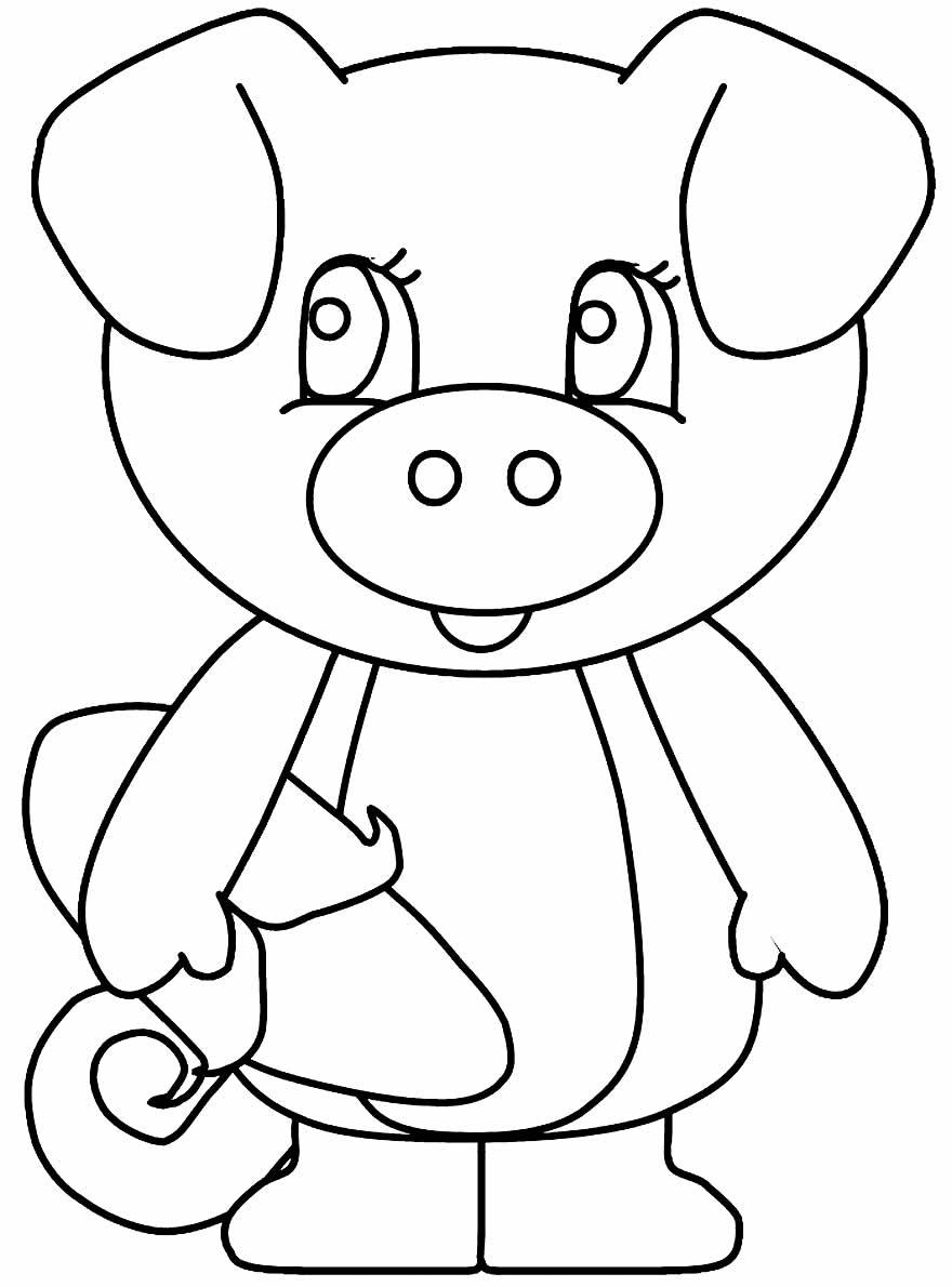 Desenho para colorir de porquinho