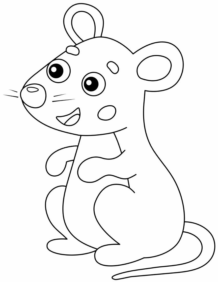 Desenho para colorir de ratinho