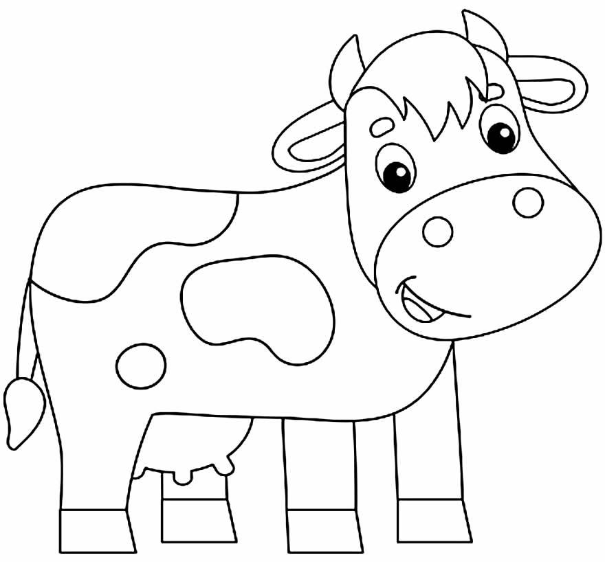 Desenho para colorir de vaca
