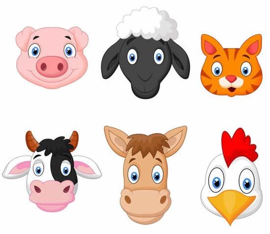Desenho de animais da fazenda