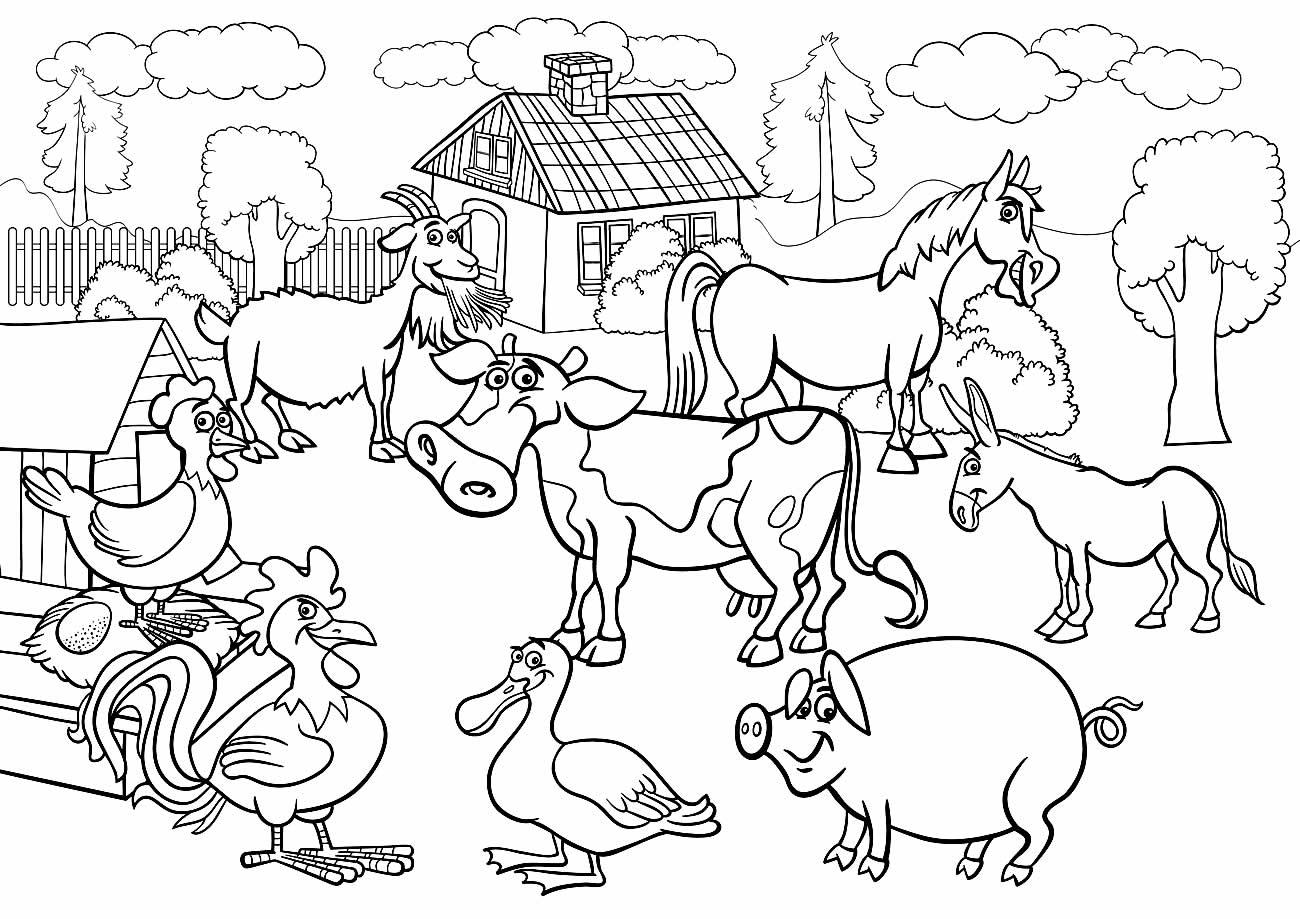 Desenhos para colorir de animais da fazenda