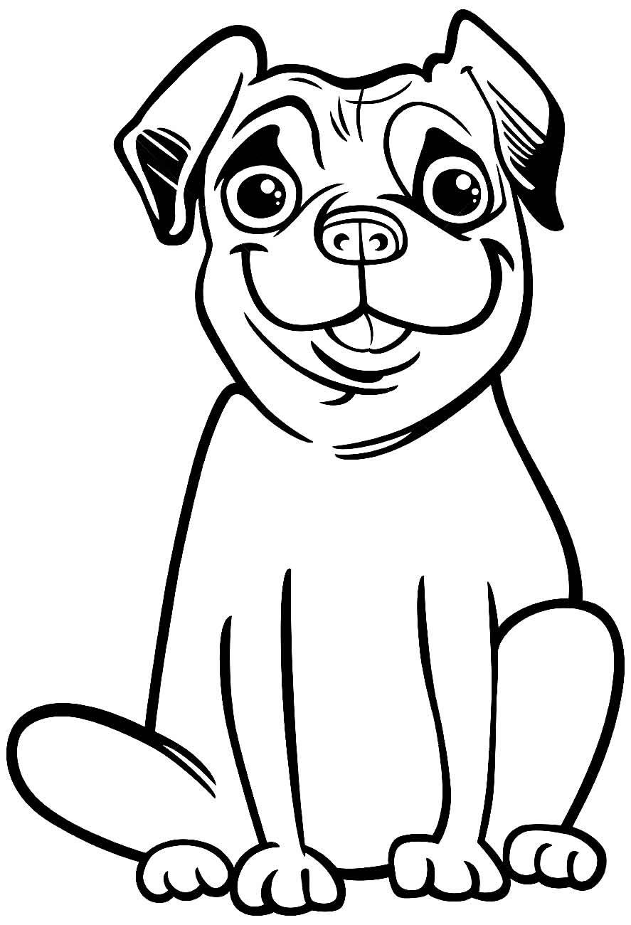 Imagem para colorir de cachorrinho