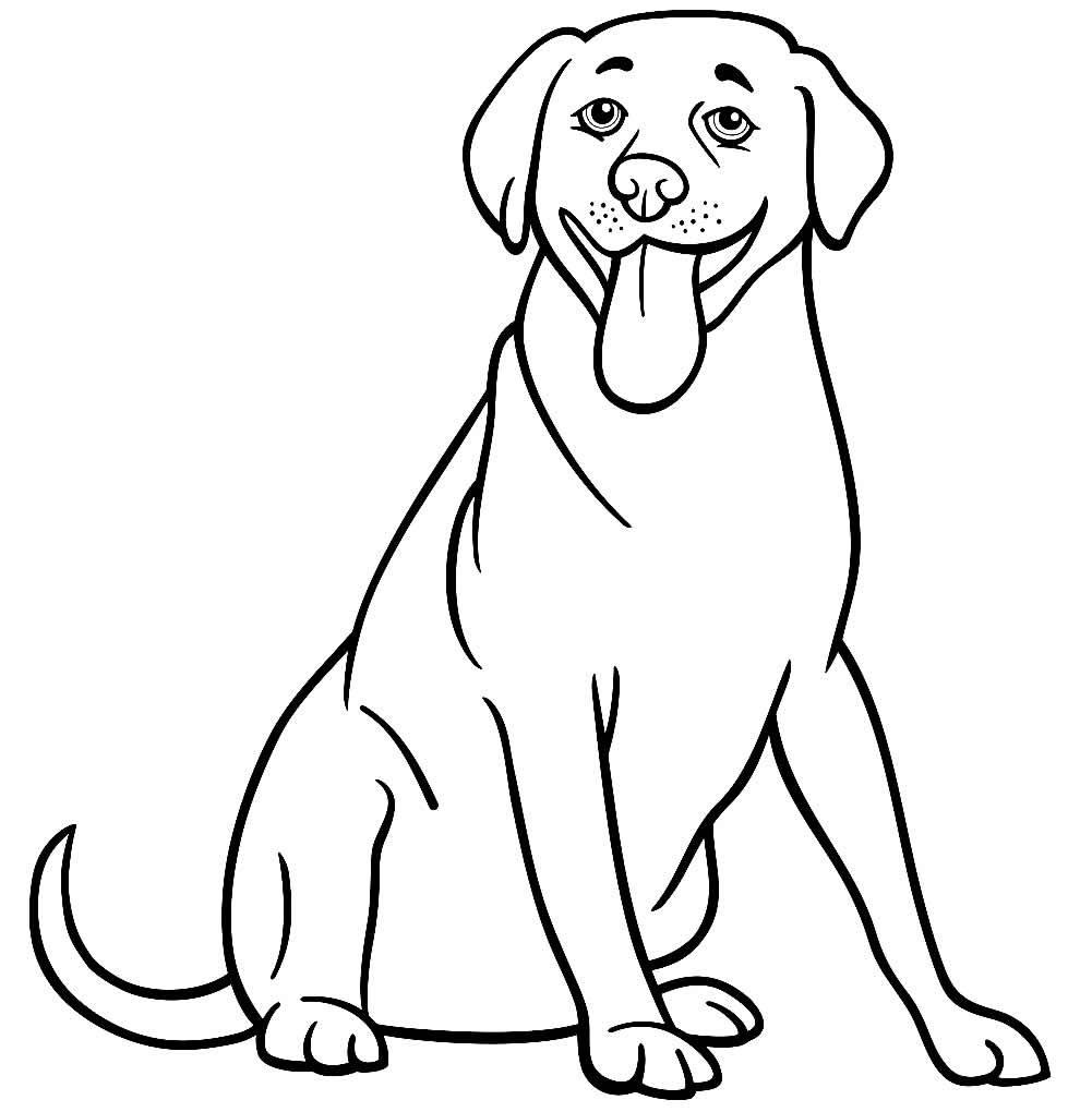 Imagem para pintar de cachorrinho