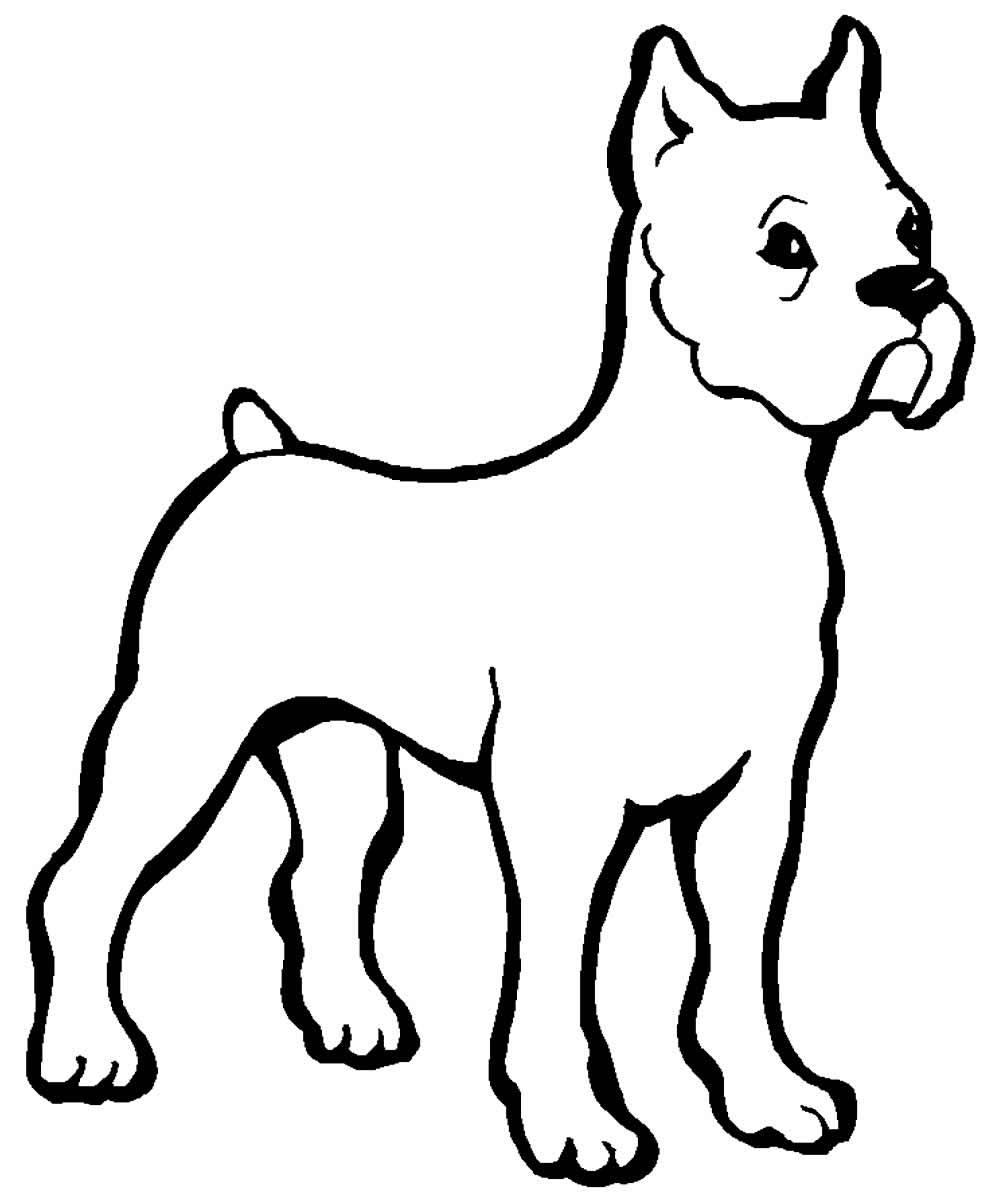 Desenho para colorir de cachorro