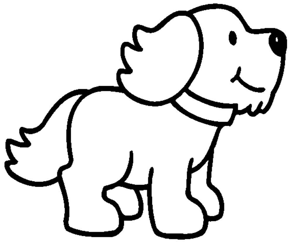 Desenho para colorir de cachorrinho