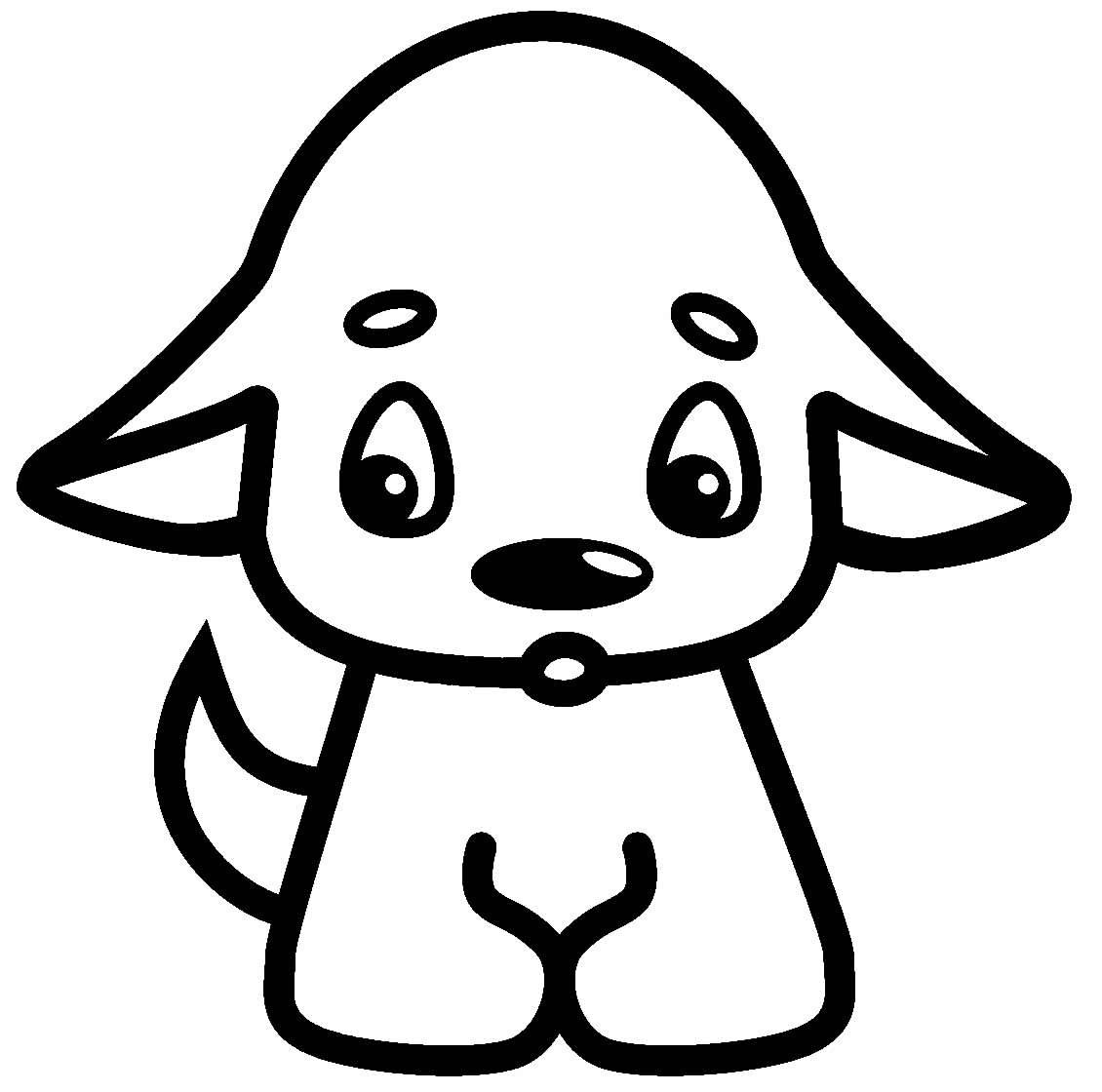 Desenho para pintar de cachorrinho