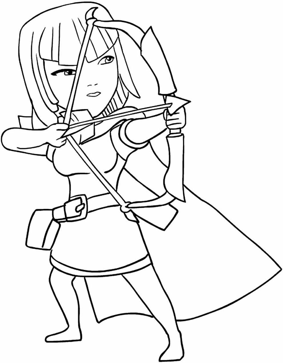 Desenho de Clash Royale para colorir
