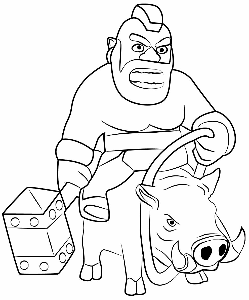Desenho do Corredor para pintar - Clash of Clans / Clash Royale