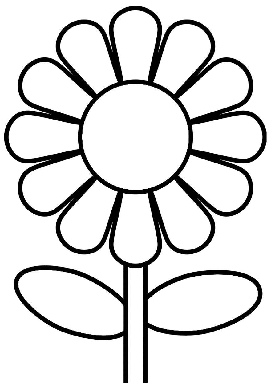 Desenhos de flor para colorir