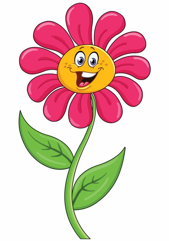Molde colorido de flor