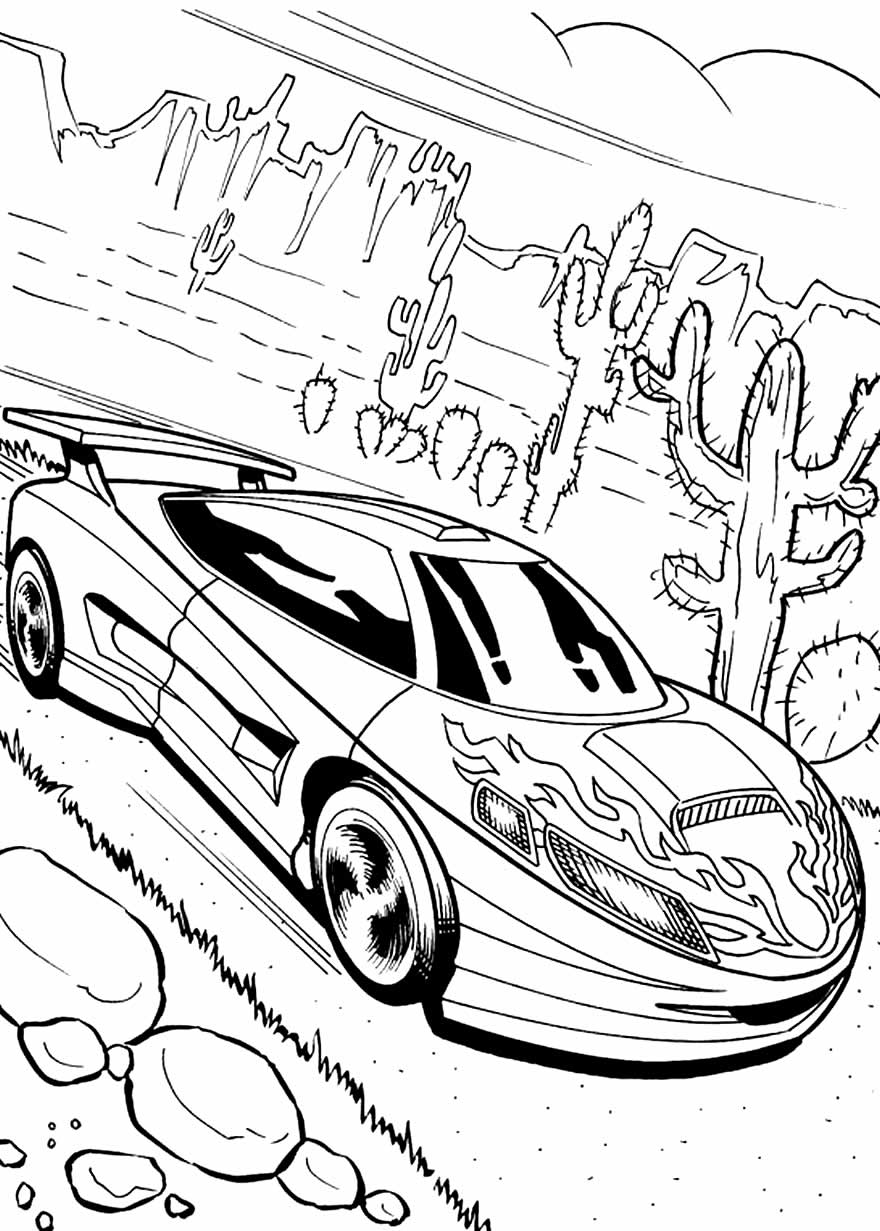 Imagem de carro Hot Wheels para colorir