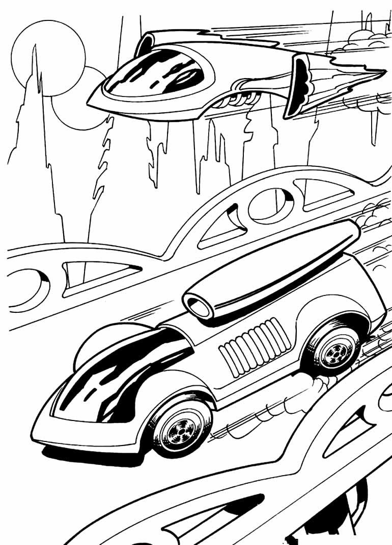 Desenho para colorir de carro Hot Wheels