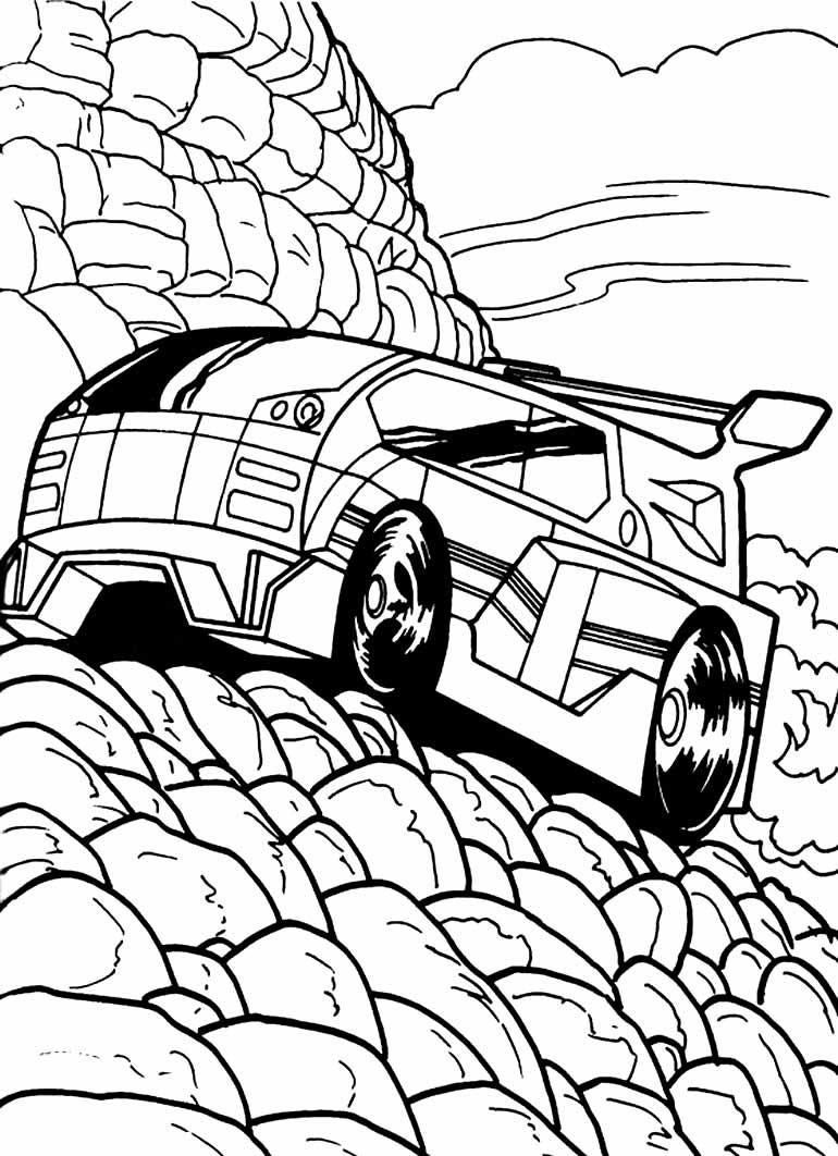 Desenho para pintar de carro Hot Wheels
