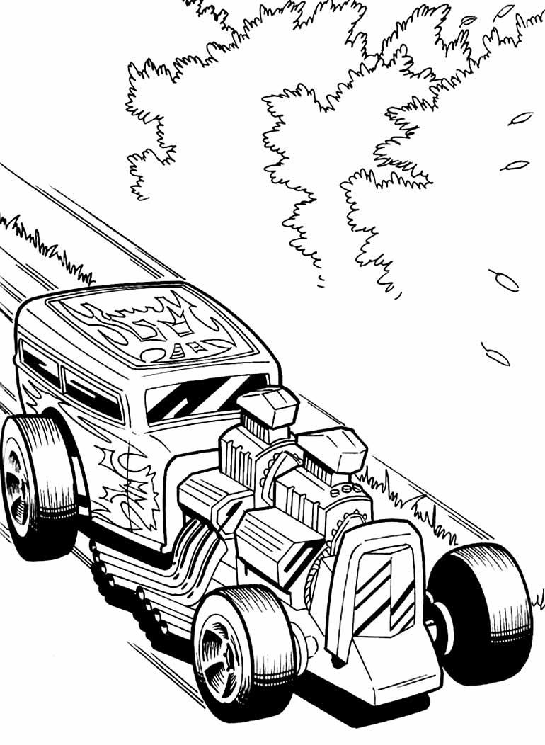 Desenho para pintar de Hot Wheels