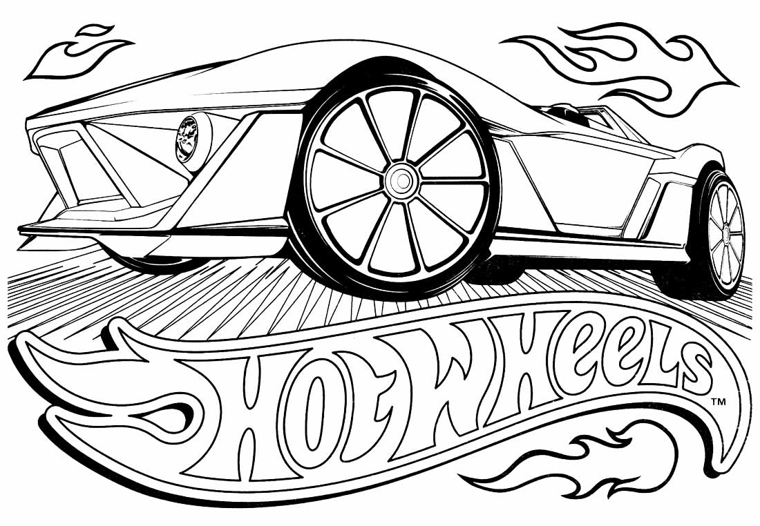 Desenho de carro Hot Wheels para colorir