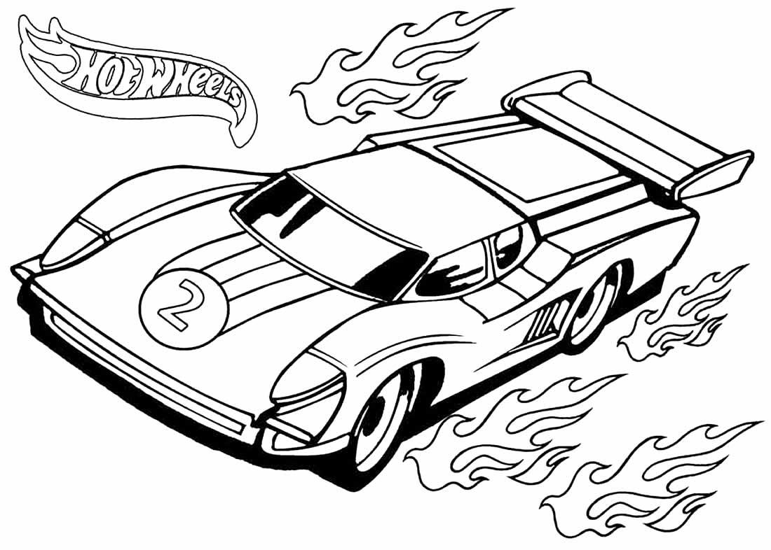 Desenho de carro Hot Wheels para pintar