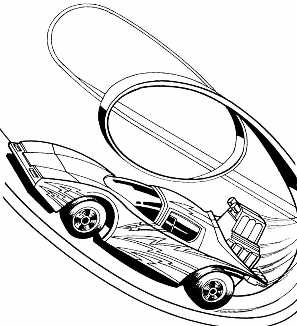 Imagem de carro Hot Wheels para pintar