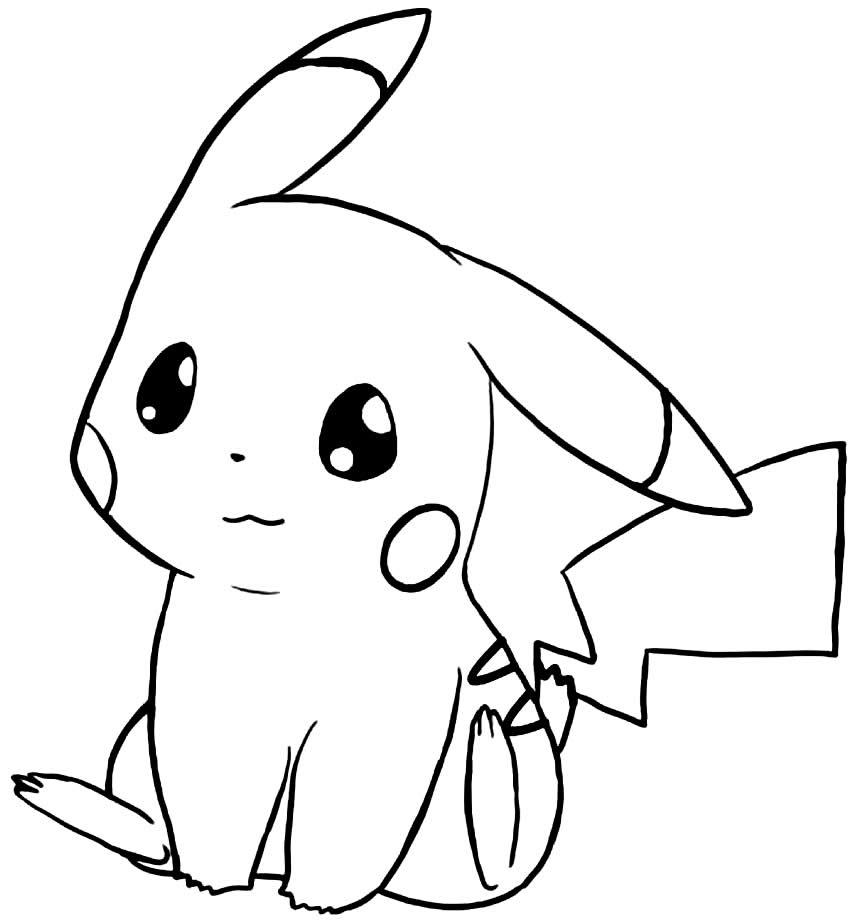 Imagem de Pikachu para colorir