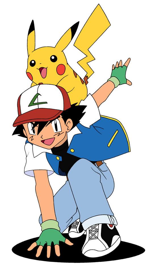 Molde de Ash e Pikachu