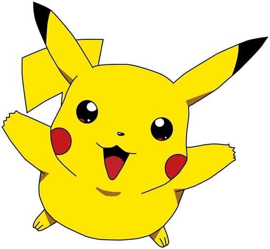 Molde colorido de Pikachu