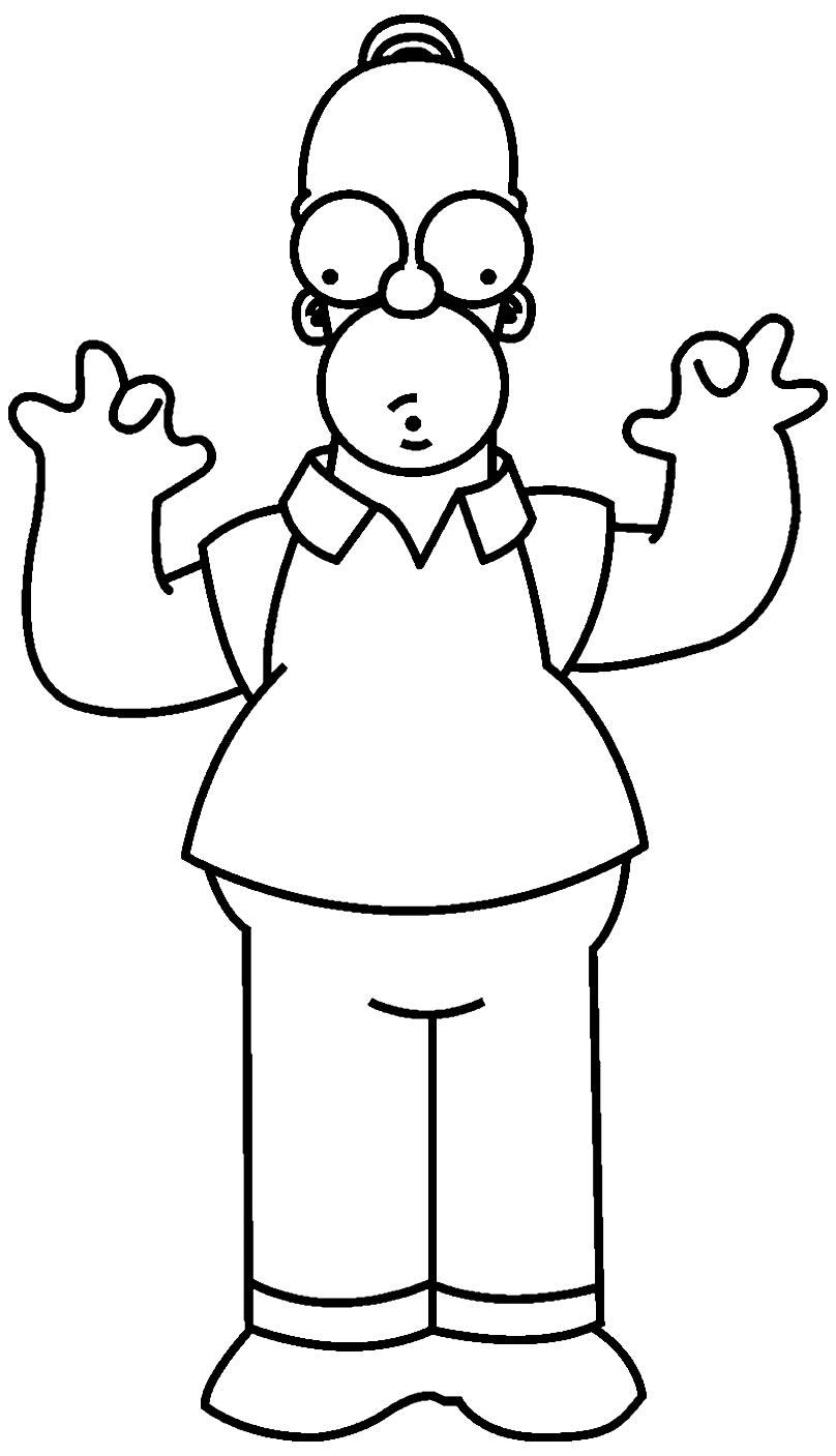 Imagem dos Simpsons para colorir
