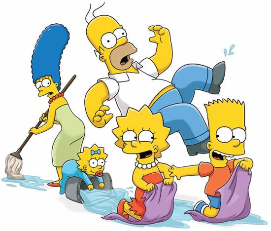 Desenho lindo dos Simpsons