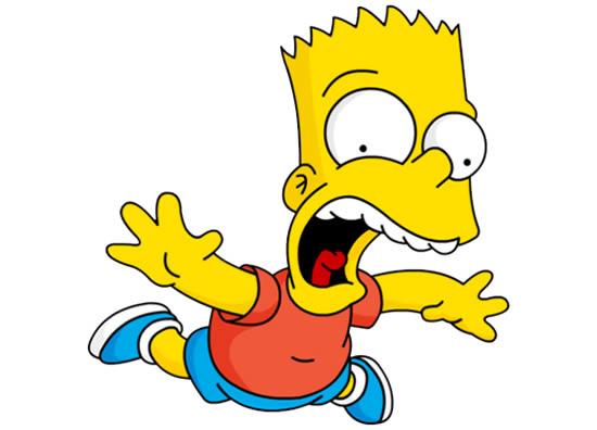 Desenho do Bart Simpson