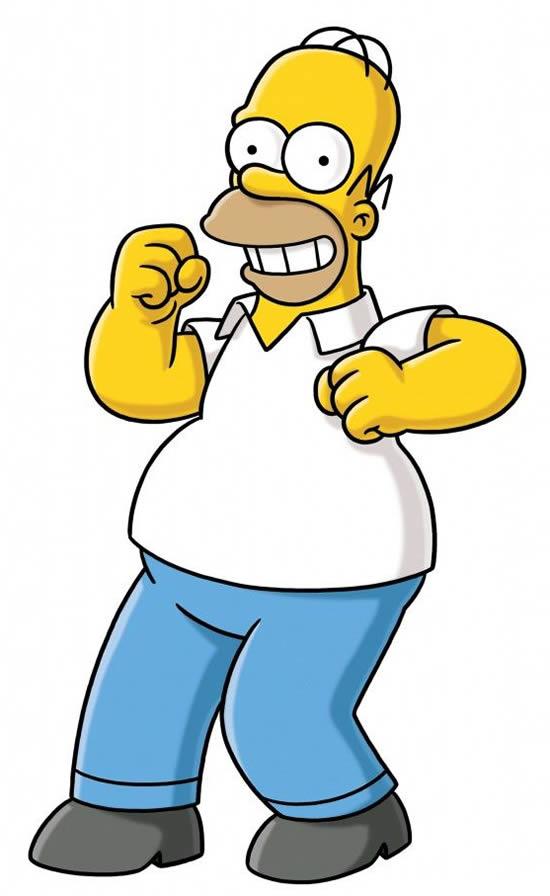 Desenho do Homer Simpson