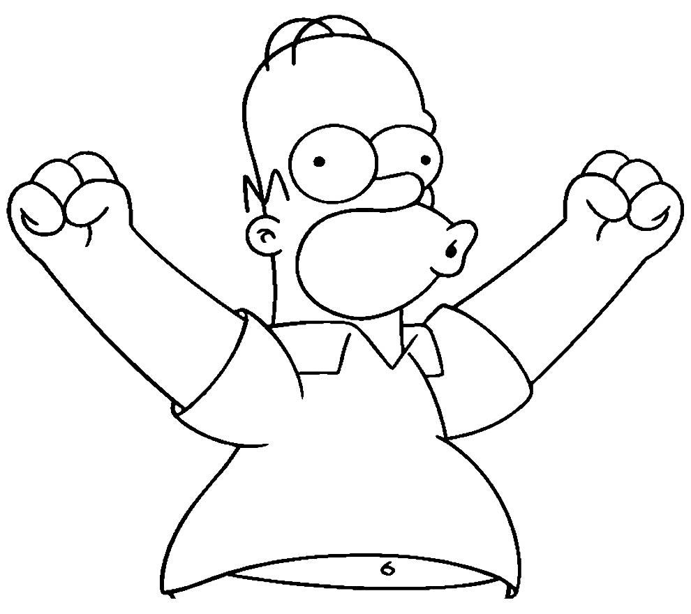 Desenho dos Simpsons para colorir