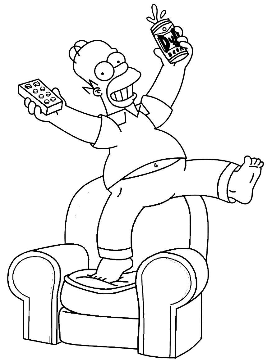 Desenho dos Simpsons para pintar