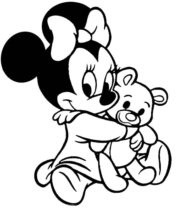 Desenho de Minnie para colorir