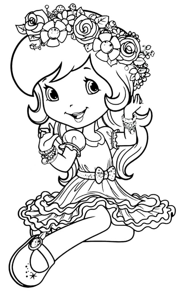 Desenho da Moranguinho para pintar Desenhos para pintar infantil