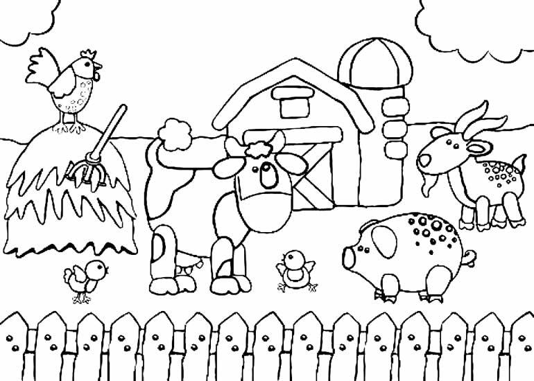 Desenho de animais de fazendinha