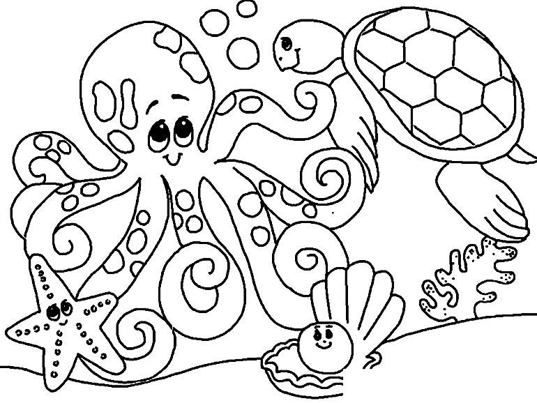 Desenhos do fundo do mar