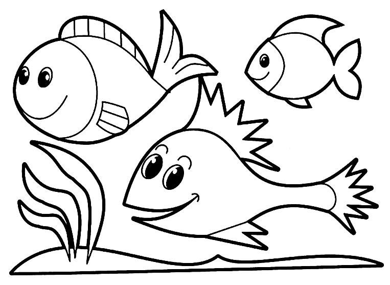 Desenho de peixinhos