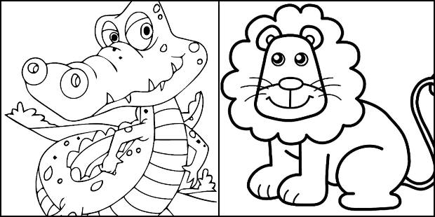 Desenhos de animais para imprimir e colorir