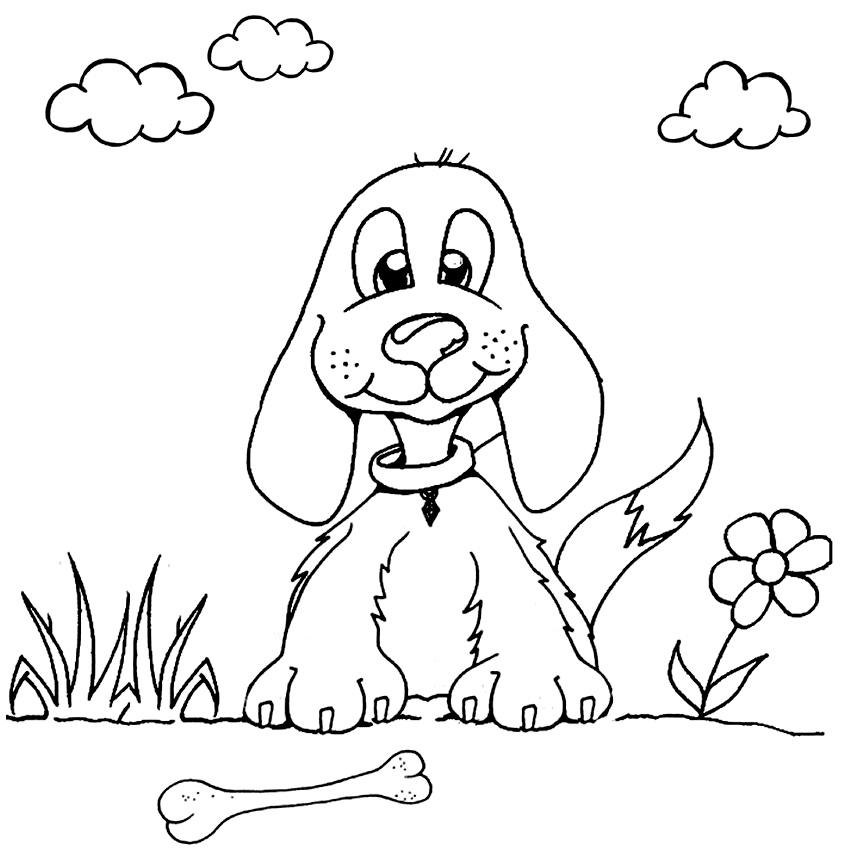 Desenho de cachorro para pintar