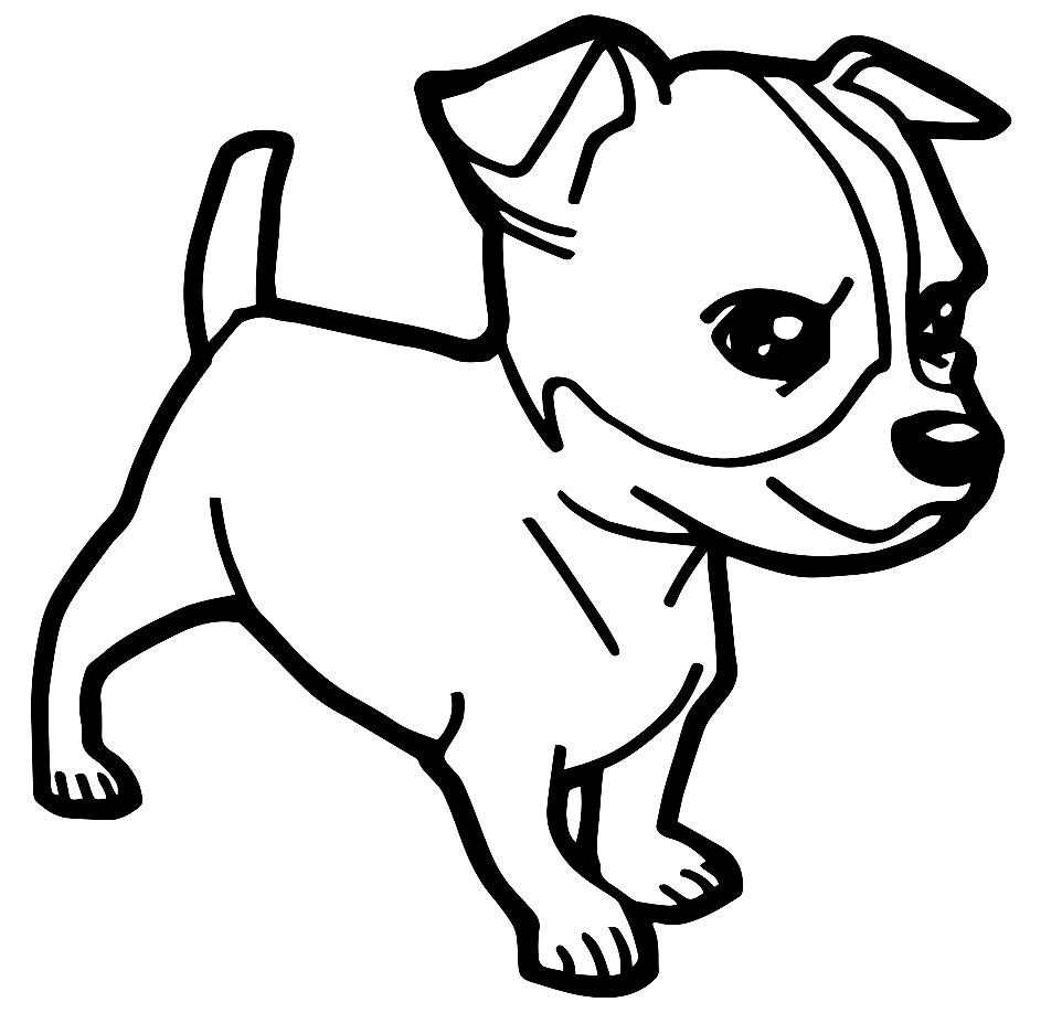Imagem de cachorro para pintar