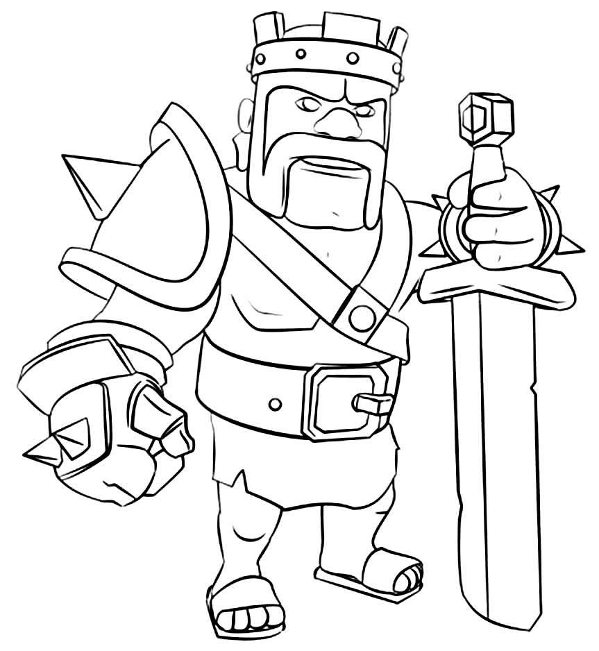 Imagem de Clash Royale para colorir