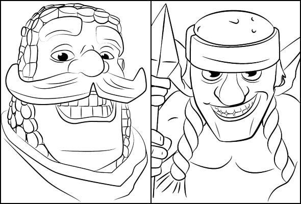 Desenhos de Clash Royale para colorir